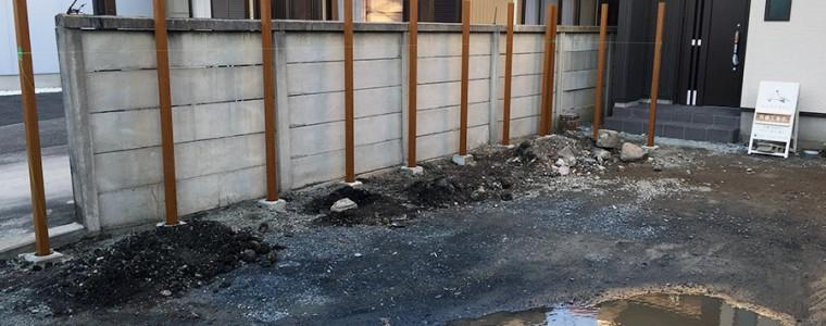 豊川市のF様邸・フェンス工事
