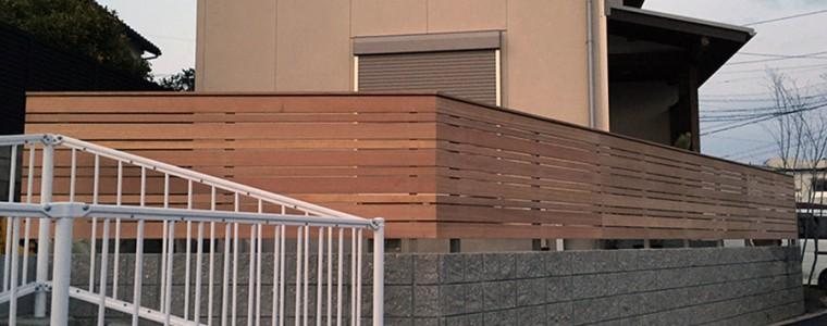 東海市のフェンス施工の続きです。