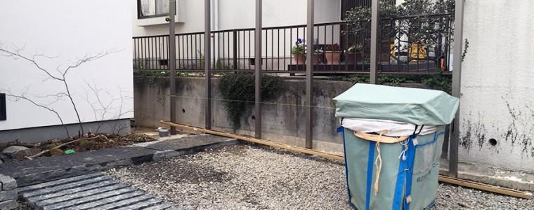岡崎市のフェンス施工