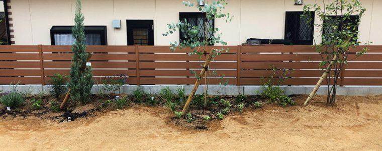 豊川市のS様邸での造園工事